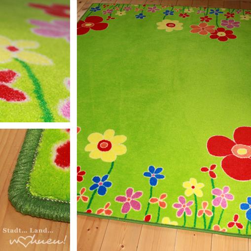 Kinderteppich blumenwiese  Kinderteppich Blumenwiese - traumhaft schöner Teppich für's ...