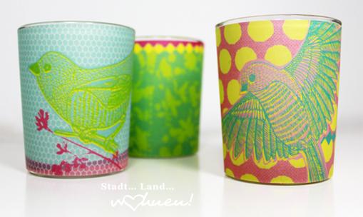 Teelichtglas Hello Spring